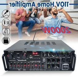 110V 2000W 2 Channel Home bluetooth Stereo Amplifier Powered
