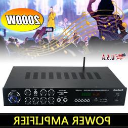 1120W 110V 5Ch bluetooth Home Stereo Amplifier Powered Equal