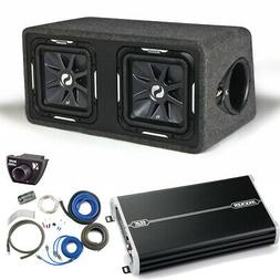 "Kicker 11DS12L72 Solobaric Dual 12"" Box with 1500 Watt Kicke"
