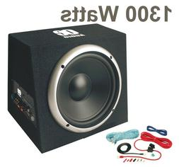 "12"" Car subwoofer with amp active amplified boom bass box 13"