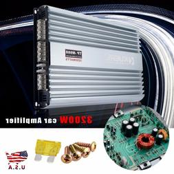 12V 3200W 4 Channel Car Amplifier Stereo Power Amp Audio 4CH