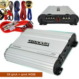 Audiobank 2 Channels 800W Bridgedable Car Audio Amplifier +