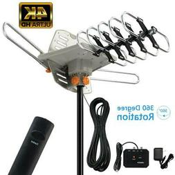 200 Mile TV Antenna Amplified Outdoor Digital Signal UHF VHF
