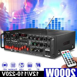 2000W 110V 2 Channel  bluetooth Home Stereo Power Amplifier