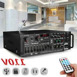 2000w 110v 2ch bluetooth home stereo amplifier