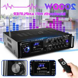 2000W 110V 2Ch bluetooth Home Stereo Amplifier Powered Equal