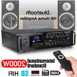 2000W 5 Channel 110V bluetooth Amplifier Receiver Mixer Syst
