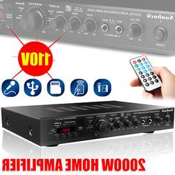 2000W 5CH 110V AV Sound Home bluetooth 4.1 Amplifier Receive