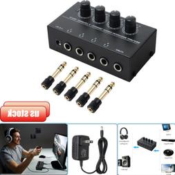4 Channel HA400 Audio Stereo Headphone Amplifier & 5X AMP Ad