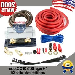 4 GAUGE AWG 100% OFC COPPER POWER AMP KIT AMPLIFIER WIRING I