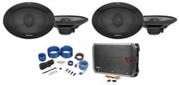 "ALPINE R-S69.2 300 Watt 6x9"" Car Audio 2-Way Speakers+4-Cha"
