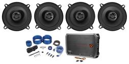 "ALPINE S-S50 170w 5.25"" 5 1/4"" Car Speakers+4-Channel Ampli"