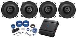 "ALPINE S-S50 170w 5.25"" 5 1/4"" Car Speakers+Alpine 4-Ch Amp"