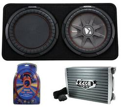 "Kicker 43TCWRT122 1000W 12"" 2-Ohm Slim Shallow Subwoofer+Box"