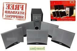 5.1-CHANNEL HOME-THEATER  SYSTEM W Amplifier, Subwoofer & 5