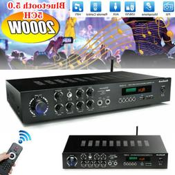 2000Watts 5 Channel Bluetooth 4.0 Home Stereo Power Amplifie