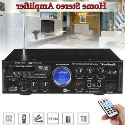 500W 2CH bluetooth Home Car Stereo Amplifier Subwoofer AUX F