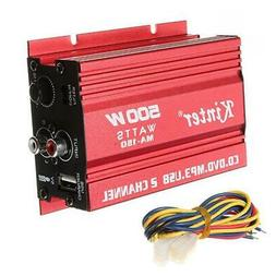 New Mini Hi-Fi 500W 2 Channel Stereo Audio Amplifier for Car