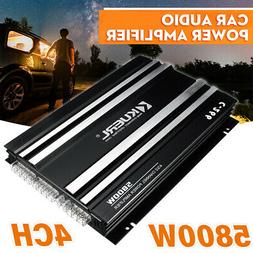 5800W 4 Channel Car Amplifier Stereo Audio Super Bass Power