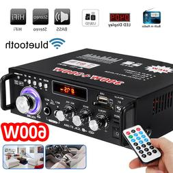 600W 2CH bluetooth Car Digital Amplifier HIFI Stereo Audio U