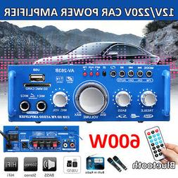 600W Amplifier HIFI Audio Stereo Power Bluetooth FM Radio Ca