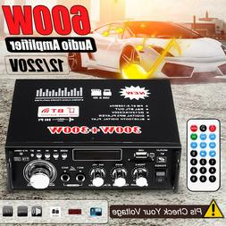 600W LCD bluetooth Amplifier Digital HIFI Audio Stereo FM 2C