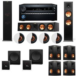 Dolby Atmos 7.2.4 Klipsch RP-280F Tower Speakers SW-112 with