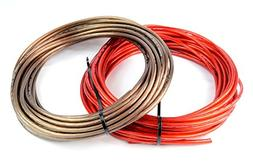 8 Gauge 50' BLACK and 50' RED Car Audio Power Ground Wire Ca