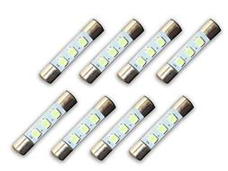 8 Cool Blue 8V LED Lamp Fuse-Type Bulbs for Pioneer Receiver