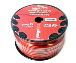AUDIOPIPE 8 GA GAUGE RED POWER GROUND WIRE CABLE CAR AUDIO A