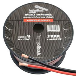 8 Gauge Speaker Wire 100' ft Red/Black Car Audio Home Subwoo