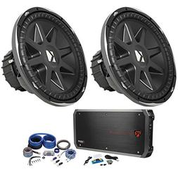 "Package:  Kicker 10CVX15-4 Ohm Round 15"" Subwoofers Totaling"