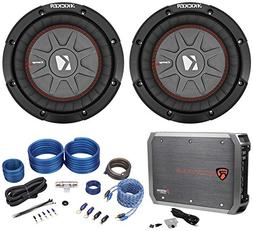 """Package:  Kicker 43CWRT81 8"""" Subs Totaling 1200W W/1-Ohm DVC"""