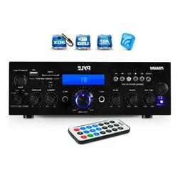 Pyle PDA6BU Bluetooth Stereo Amplifier Receiver, FM Radio/US