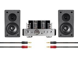 Tube Amp System with Bluetooth 25-watt Stereo Hybrid with 4-