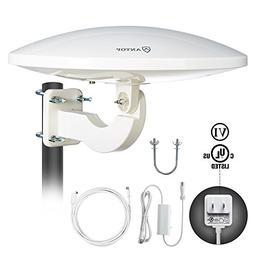 Outdoor Amplified HDTV Antenna, ANTOP UFO 360 ° Omni-direct