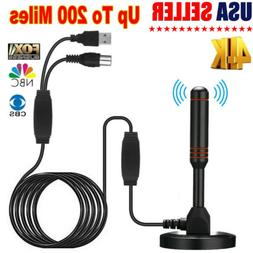 Antenna TV Indoor Digital 200 Miles Range HD 1080P Signal Bo