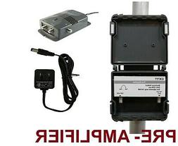 antenna tv pre amplifier signal booster hd