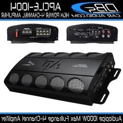 4-Channel Amplifier 1000W Max Fullrange Car Audio Amp Audiop