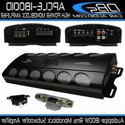 Monoblock Subwoofer Amplifier 1800W Rms Car Audio Amp Audiop