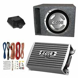"Boss Audio 12"" 1400W Subwoofer + 1500W Amplifier w Amp Kit +"