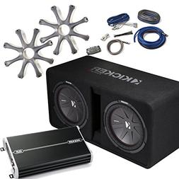 "Kicker Bass Package - 43DCWR122 Dual 12"" CompR Loaded Enclos"
