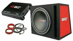 "DS18 BP112 650W Complete Bass Package with 12"" Subwoofer Mon"