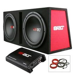 "DS18 BP210 1200W Complete Bass Package with Two 10"" Subs, Mo"