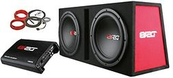 "DS18 BP212 1300W Complete Bass Package with Two 12"" Subs, Mo"