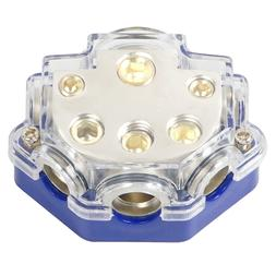 Car Audio Amplifier 1 In 5 Ways Out Power Distributor Block
