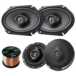 2 Pairs Car Speaker Package of 2X Kenwood KFC-C6895PS 720-Wa
