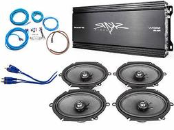 "Skar Audio 6""x8"" Complete Speaker Upgrade Package with Ampli"