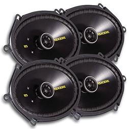 "4) New Kicker 40CS684 6x8"" 450W 2 Way Car Coaxial Speakers S"