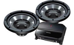NEW KENWOOD PACKAGE DEAL CAR AUDIO 2-CHANNEL AMP AMPLIFIER +